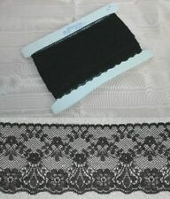 Flat Black Lace 60mm wide x 10  metres (48545)