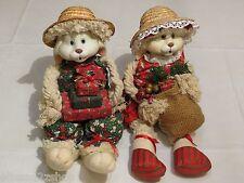 House Of Lloyd Bunnies Bunny Flo Christmas straw hats Rabbits Flossie Floyd