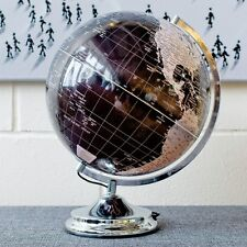 Black Silver World Globe Touch Light Lamp Home Decor Soft Mood Bedroom Lighting