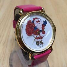 Vintage Swiss Parts Large 42mm Christmas Santa Claus Quartz Watch Hour~New Batte