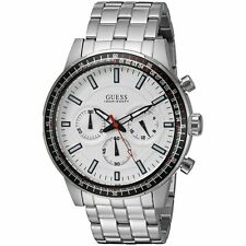 GUESS Men's U0801G1 Analog Display Quartz Silver Watch