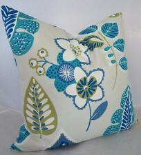 Blue/Grey/Green Floral Leaves Home Decor Cushion Cover Pillow Case 45cm