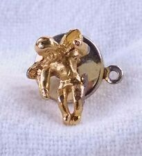 Vintage 80's Gold Tone Guardian Angel On My Shoulder Lapel Pin