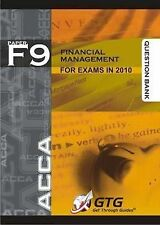 ACCA - F9 Financial Management : QUESTION BANK, Get Through Guides, Good, Paperb