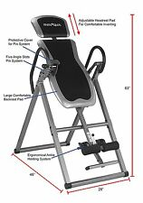 Heavy Duty Gravity Inversion Table Fitness Back Pain Relief Exercise Workout NEW