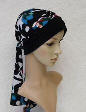 Chemo head wear, full turban, turban with ties, bad hair day cap, turban snood