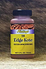 Fiebing's Tan 4oz Water Resistant Edge Kote For Finishing Any Leather Edge