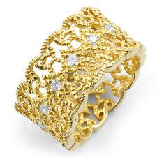 0.50 Ct Round Diamond Anniversary Eternity VS2 Wedding Ring 14k Gold Yellow Band