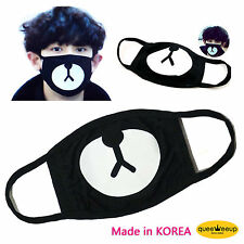 Unisex Kpop Exo Members Black Cotton Bear Chan Yeol Same Style Face Mouth Mask