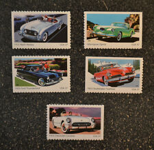 2005USA #3931-3935  37c Sporty Cars - Set of 5 Singles From Booklet - Mint NH