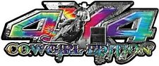 "4x4 Truck Decals Cowgirl Edition Barrel Racing Tie Dye 14"" REFLECTIVE 041"