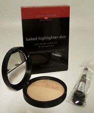 Laura Geller LARGE Baked Highlighter FRENCH VANILLA/DULCE DE LECHE w/Applicator