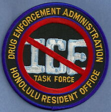 DEA DRUG ENFORCEMENT ADMINISTRATION HONOLULU RESIDENT OFFICE POLICE PATCH