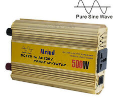 500W Power Inverter Pure Sine Wave AC converter Car Inverters Power Supply Meind