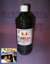 TEMPERA LIQUIDA PRONTA IN BOTTIGLIA 1000 ML (1 LITRO) - NERO CWR 08808/02