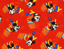 DISNEY MICKEY MOUSE  OUT TO PLAY WORD TOSS  LICENSED SPRING CREATIVE 2013 FABRIC