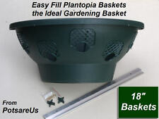 """2 X 18"""" EASY FILL HANGING WALL PLANTER BASKET (GREEN)"""