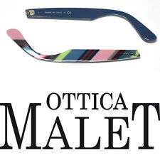ASTE RICAMBIO RAY BAN 2151 WAYFARER TEXT ON BLUE SIDE ARMS TESTO SU BLU STRIPED