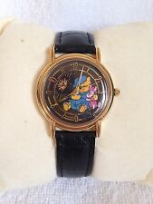 Disney Winnie Pooh & Piglet 24 Hour Day Night Moon Sun Dial Phase Adult Watch