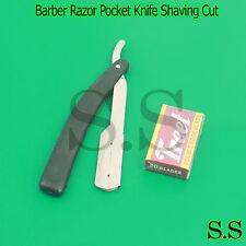 """6"""" Straight Blade Barber Razor Pocket Knife Shaving Cut Throat Stainless Quality"""