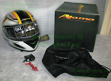 NEW AKUMA GHOST RIDER Jolly Rogers F-14 Tomcat NAVY Motorcycle Helmet Size=Large