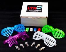 LED Party Pack by LTNUP, 20 LED Balloon lights, 32 Finger Lights & 4 sunglasses