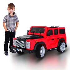 12V Land Rover Defender Kids Ride On Car Electric Toy Battery Power RC Red