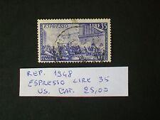 REPUBBLICA 1948 SERIE RISORGIMENTO ESPRESSO LIRE 35  USATO