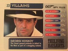 The Living Daylights Georgi Koskov #23 Villains - 007 James Bond Spy Files Card