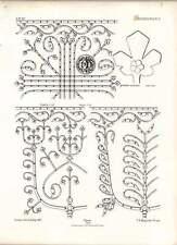 Gothic marburg st elizabeth partie de ferrures de porte une feuille de taille standard