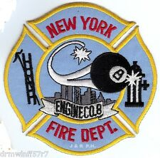 "New York City - Engine-8  ""8 Ball"" (4"" x 4"" size) fire patch"