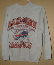 VINTAGE BUFFALO BILL's TULTEX FLAT STITCH 1988 1991 AFC EAST DIV.CHAMPS SWEAT-L