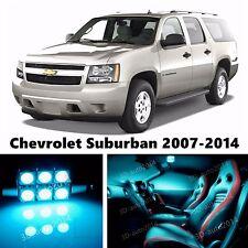 15pcs LED ICE Blue Light Interior Package Kit for Chevrolet Suburban 2007-2014