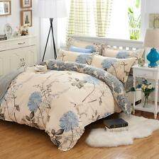 NEW Retro Queen Size Bed Set Pillowcase Quilt Duvet Cover Floral ymqx feng