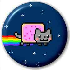 Nyan Cat 25Mm Pin Button Badge Lapel Pin