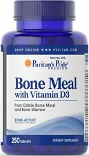 Puritan's Pride Bone Meal with Vitamin D - 250 Tablets