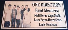 ONE DIRECTION   Plaque Gold Picture Free Postage****