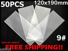 50 Professional Paper Money Stamp Collection Bag Protect Sleeves 120 x 185mm 9#