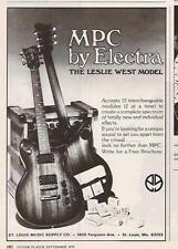 1979 THE LESLIE WEST MODEL MPC BY ELECTRA GUITARS AD
