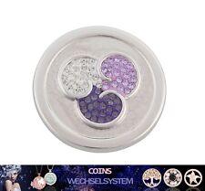 COIN COINS MÜNZEN Silber No.339 Kristall 33mm kompatibel mit Quoins Moneda