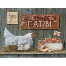"Country Art Print - ""Fresh from the Farm"" - Chicken/Rooster Home Decor Picture"