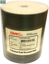 100-Pak CMC PRO (TY Tech) 8X White Inkjet Hub DVD+R's