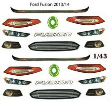2013 -2014 Ford Fusion Lights & Grill 1/64th HO Scale Slot Car Waterslide Decals