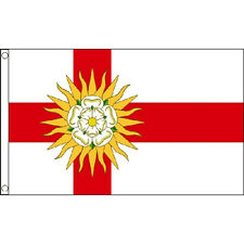 West Riding Of Yorkshire Flag 5Ft X 3Ft Uk English County Banner With 2 Eyelets