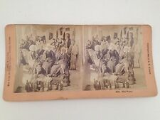 Stereoview Card 1888 B W Kilburn The Wake Antique Photo Mourning Funeral