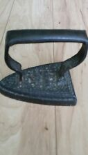Authentic History Attached Antique 17-1800's Pressing Cast Iron Iron EUC