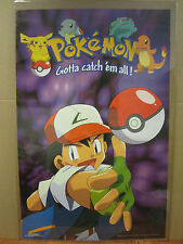 Vintage 1999 Pokemon Gotta Catch 'Em All! poster 3870