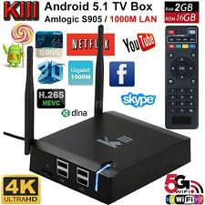 KIII Smart Android 5.1 TV Box S905 Quad-Core 2G/16G UHD 4K 3D WiFi Media Player