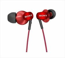Sony MDR-EX220LP/R Red   13.5mm Drivers In-Ear Stereo Receiver  Japanese Import