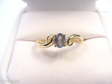 VERY NICE COLORS NATURAL ALEXANDRITE .38 CT VS CLEAN 14K GOLD RING